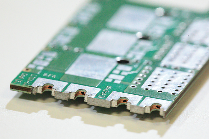 Modern circuit board with fluid channels