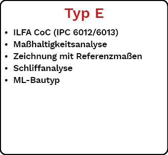 Lieferdokumentation Typ E