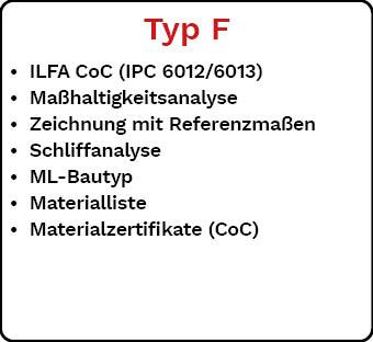 Lieferdokumentation Typ F
