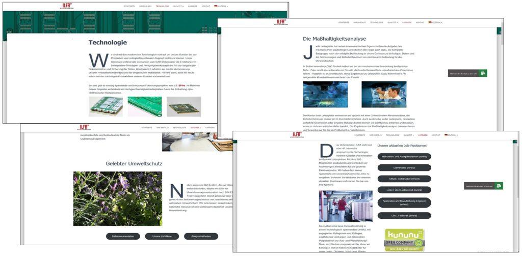 Screenshots ILFA Homepage